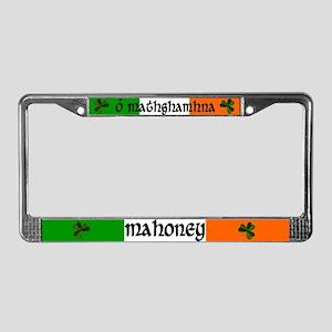 Mahoney in Irish & English License Plate Frame
