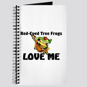 Red-Eyed Tree Frogs Love Me Journal