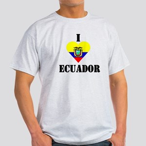 I Love Ecuador Ash Grey T-Shirt