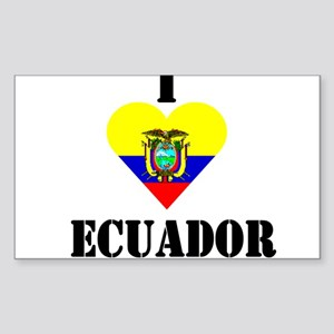 I Love Ecuador Rectangle Sticker