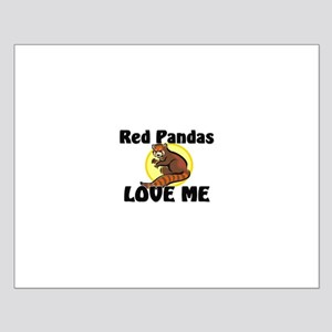 Red Pandas Love Me Small Poster