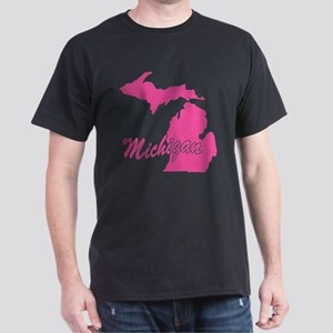 Pink Michigan Dark T-Shirt