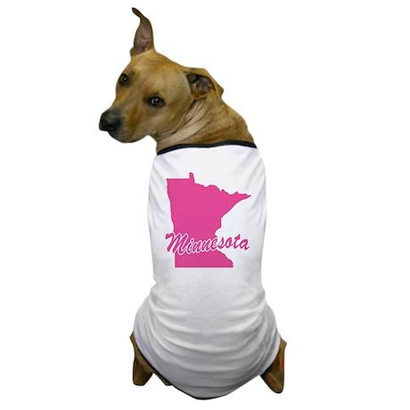 Pink Minnesota Dog T-Shirt
