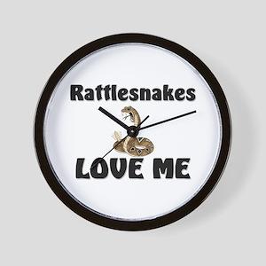 Rattlesnakes Love Me Wall Clock
