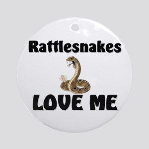 Rattlesnakes Love Me Ornament (Round)