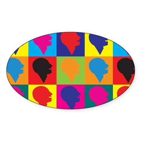 Speech Therapy Pop Art Oval Sticker