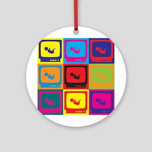 Sonograms Pop Art Ornament (Round)