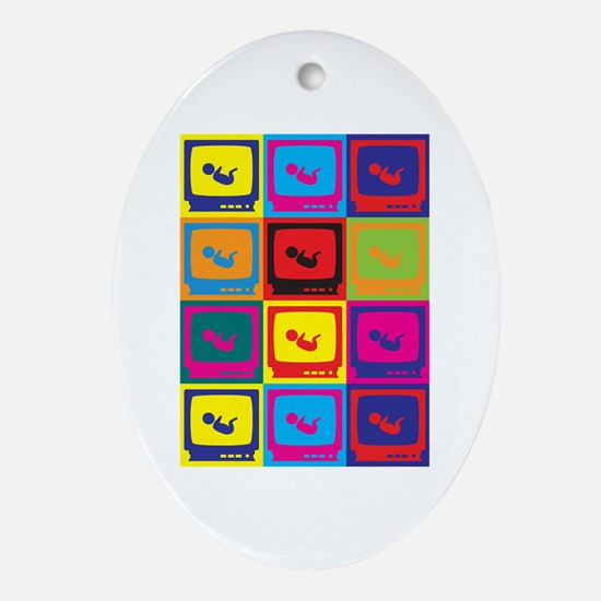 Sonograms Pop Art Oval Ornament