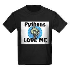 Pythons Love Me Kids Dark T-Shirt