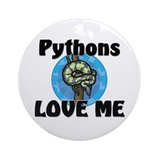 Pythons Love Me Ornament (Round)