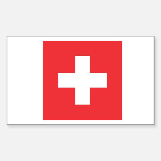 SWITZERLAND Rectangle Decal