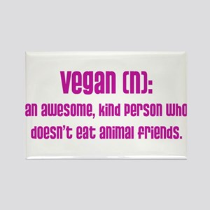 Vegan definition (PETA) Rectangle Magnet