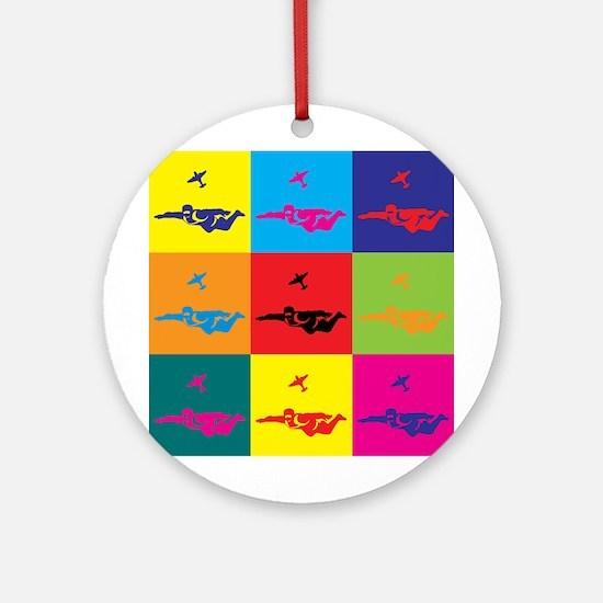 Skydiving Pop Art Ornament (Round)