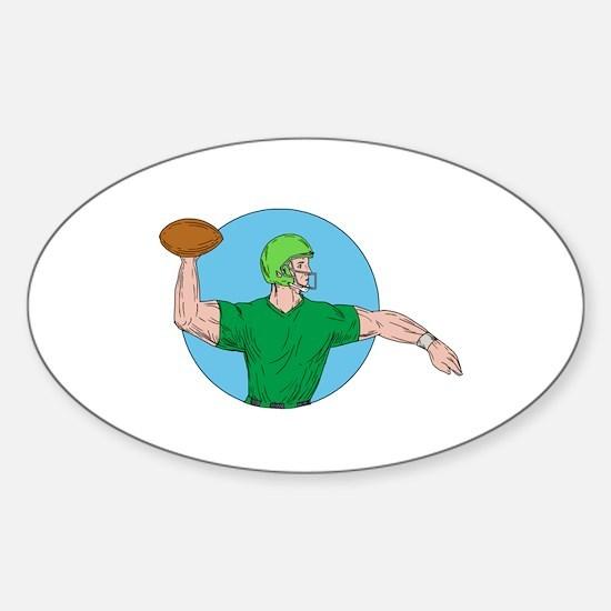 Quarterback QB Throwing Ball Circle Drawing Sticke