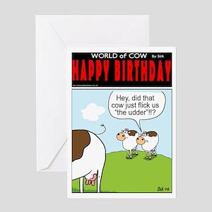 Flick the Udder! Greeting Card