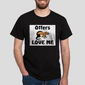Otters Love Me Dark T-Shirt