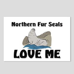 Northern Fur Seals Love Me Postcards (Package of 8