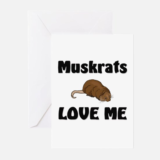 Muskrats Love Me Greeting Cards (Pk of 10)