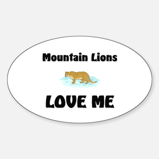 Mountain Lions Love Me Oval Decal