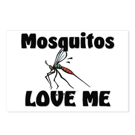 Mosquitos Love Me Postcards (Package of 8)
