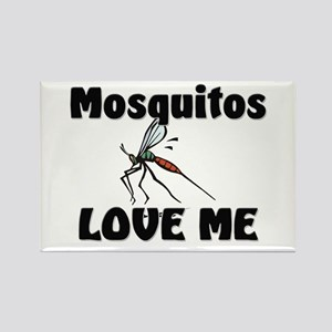 Mosquitos Love Me Rectangle Magnet