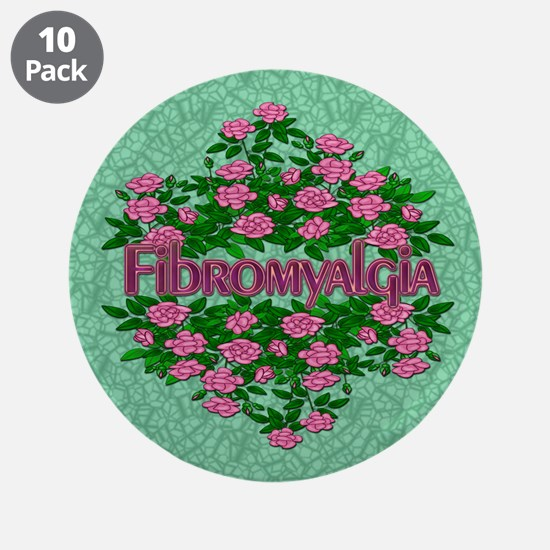 """Fibromyalgia Its Real 3.5"""" Button (10 pack)"""