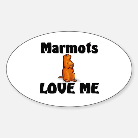 Marmots Love Me Oval Decal