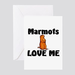 Marmots Love Me Greeting Cards (Pk of 10)