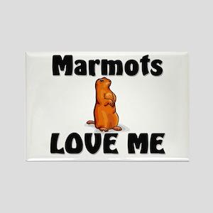 Marmots Love Me Rectangle Magnet