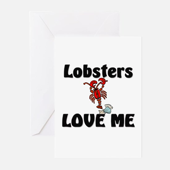 Lobsters Love Me Greeting Cards (Pk of 10)