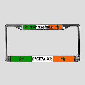 McManus in Irish & English License Plate Frame