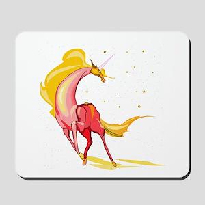 Yellow & Orange Unicorn Mousepad