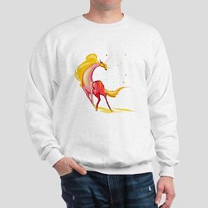 Yellow & Orange Unicorn Sweatshirt