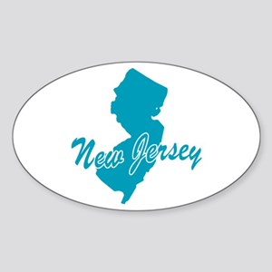 State New Jersey Oval Sticker