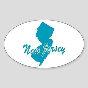 State New Jersey Oval Sticker