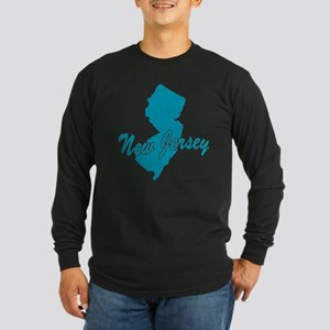 State New Jersey Long Sleeve Dark T-Shirt