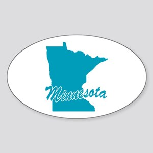 State Minnesota Oval Sticker