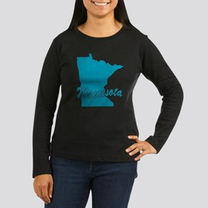 State Minnesota Women's Long Sleeve Dark T-Shirt