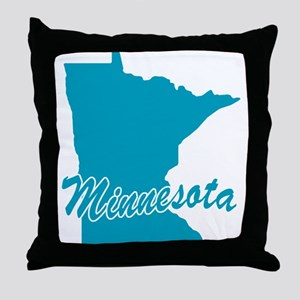 State Minnesota Throw Pillow