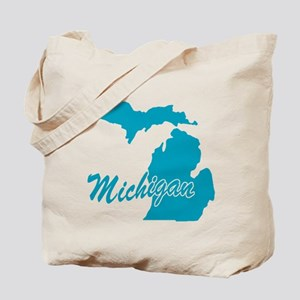 State Michigan Tote Bag