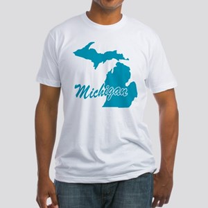 State Michigan Fitted T-Shirt