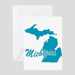 State Michigan Greeting Card