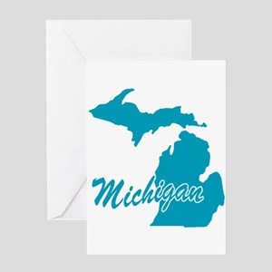 State of michigan greeting cards cafepress state michigan greeting card m4hsunfo