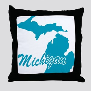 State Michigan Throw Pillow