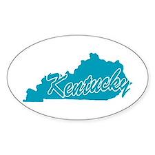 State Kentucky Oval Sticker