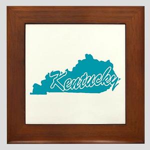 State Kentucky Framed Tile