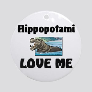 Hippopotami Love Me Ornament (Round)