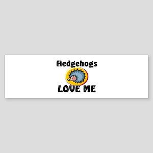 Hedgehogs Love Me Bumper Sticker