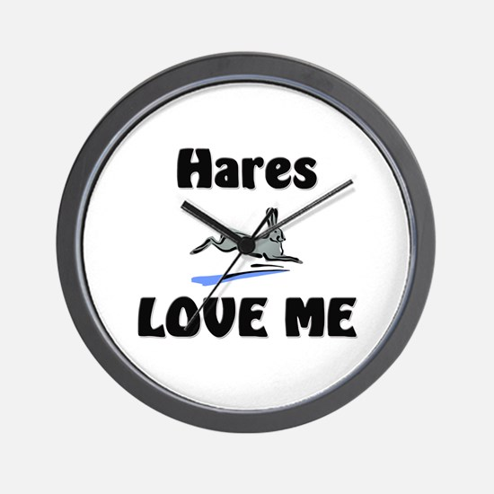 Hares Love Me Wall Clock