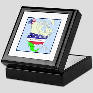 Funny Mexico America Map Keepsake Box